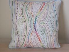 Pastel waves pillow