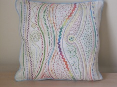 Pastel waves pillow