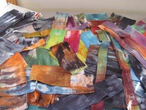 hand-dye-pile