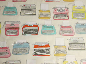 typewriter fabric