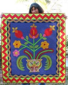 Gwen Marston folk art quilt