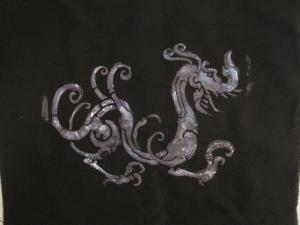 paintstik-paint stenciled dragon