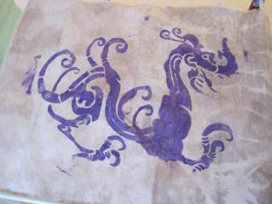 silk screened dragon