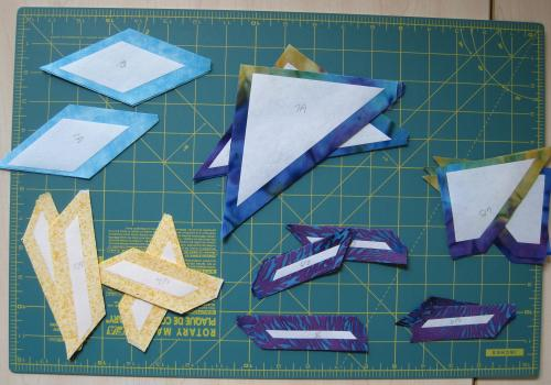 8 point star paper piecing