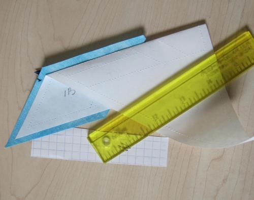 Freezer paper piecing start