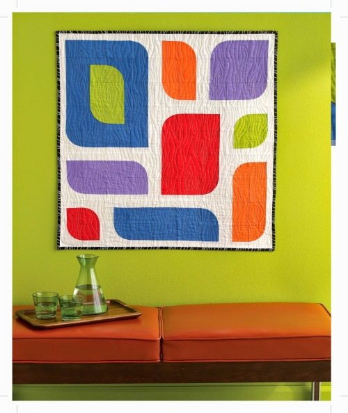 A Quilter's Mixology - Loosely Curved Wall Hanging beauty shot