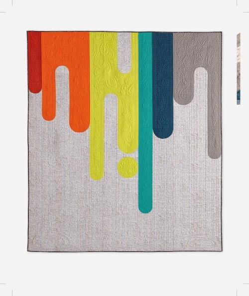 A Quilter's Mixology - Paint Drips Quilt beauty shot