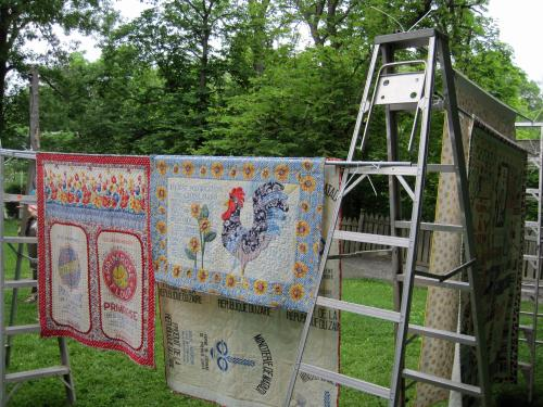 feed sack quilts hanging system