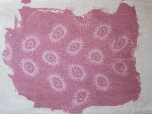 SolarFast crochet on organza