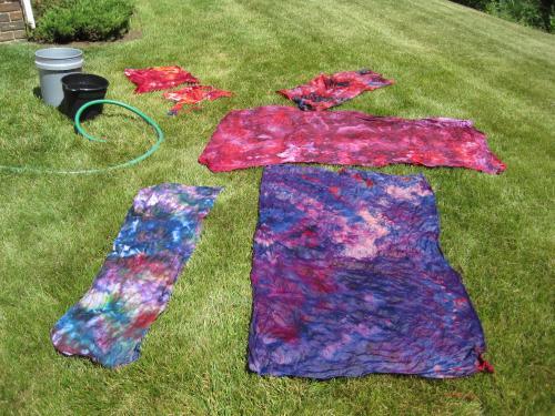 rinsing fabric