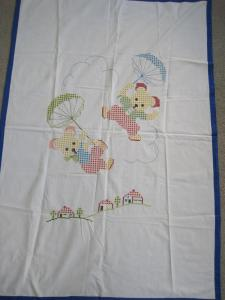 cross stitch crib cover