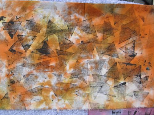 tube print on orange