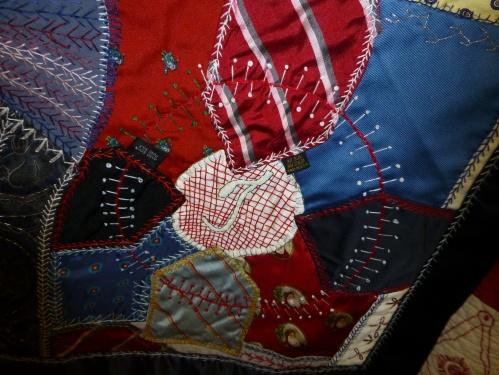 silk tie crazy quilt 7