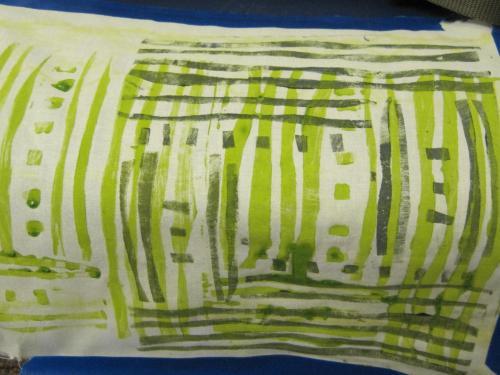 L's grass print