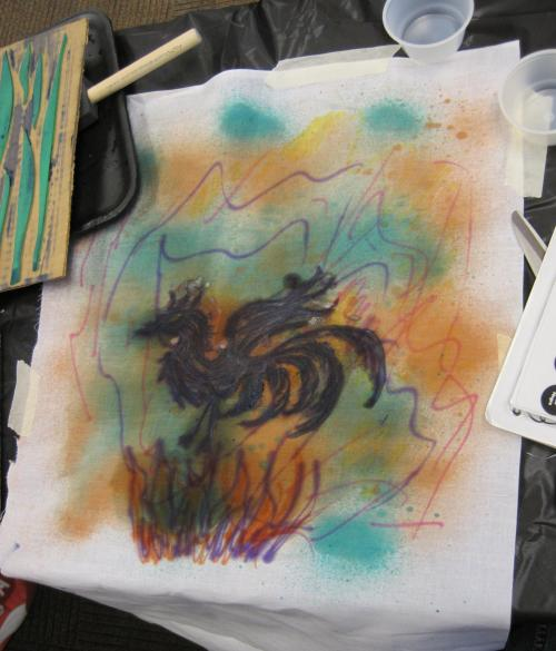S's phoenix print
