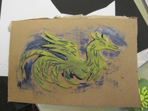 S's phoenix stamp