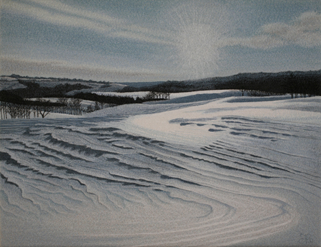 Windswept-Snow-1-by-textile-artist-Tracey-Lawko