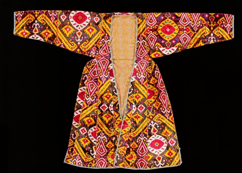 Woman's central Asian 19th c. silk velvet robe Smithsonian