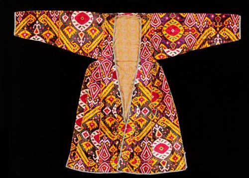 Woman's central Asian 19th c. silk velvet robe Smithsonian