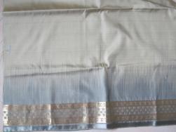 Green sari silk