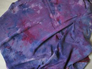 Ice dyed silk