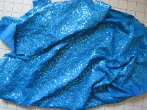 turquoise knit with sequins