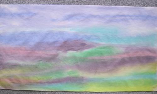 Painted landscape dry