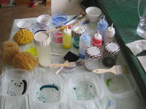 Setacolor paint mixing