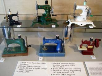 International Quilt Museum toy machines 1