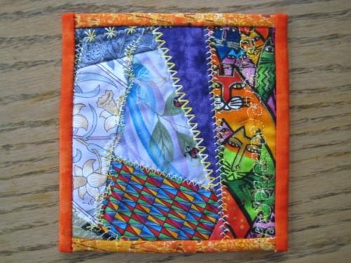 decorative stitch mug rug