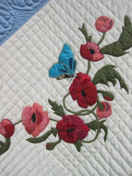 Poppies and Butterflies, Renata Yochum, 1st place large applique