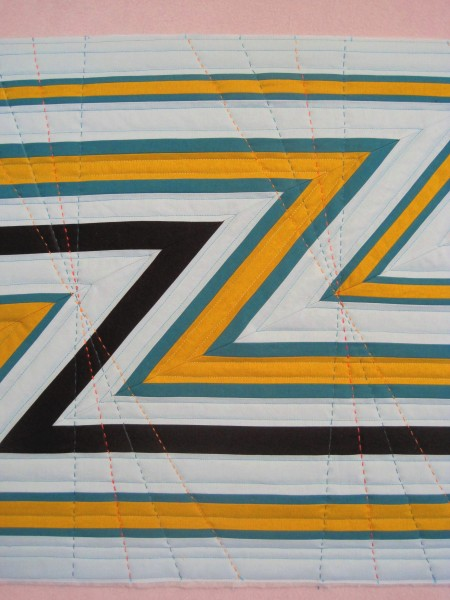 Z is for Zoom hand quilting
