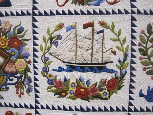 Detail of album quilt