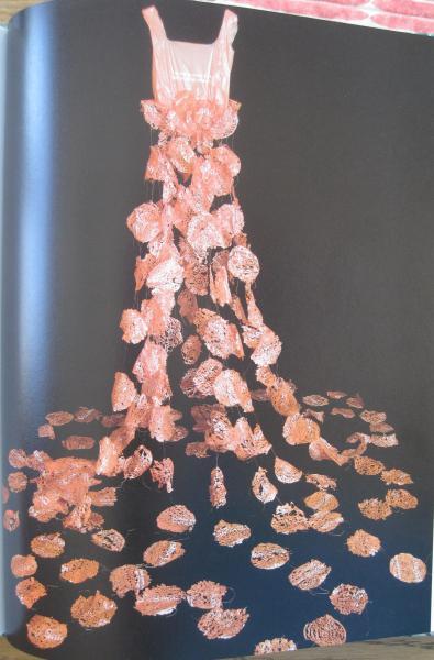Orange Lace Dress by Judith Hammond