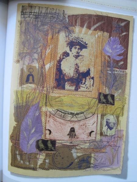 stitched collage Dorit Elisha