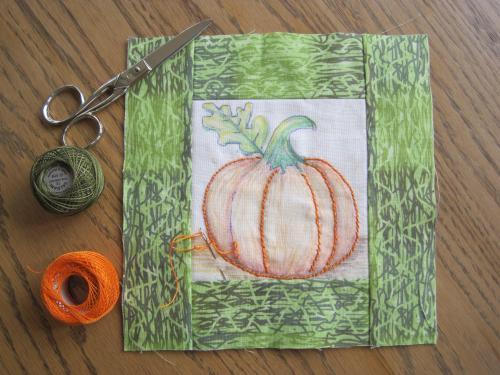 pumpkin embroidery