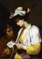 shepherdess reading a sonnet Bloemaert