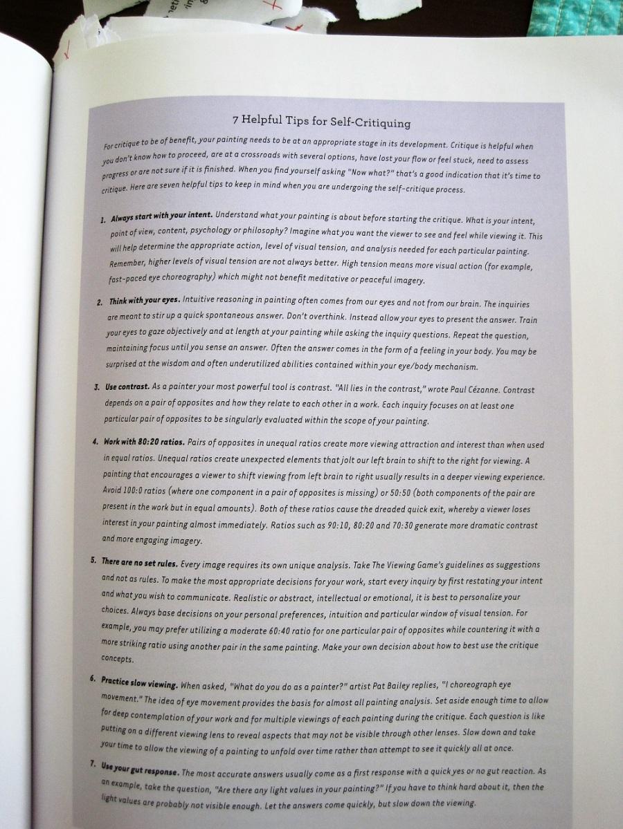 self critique paper example